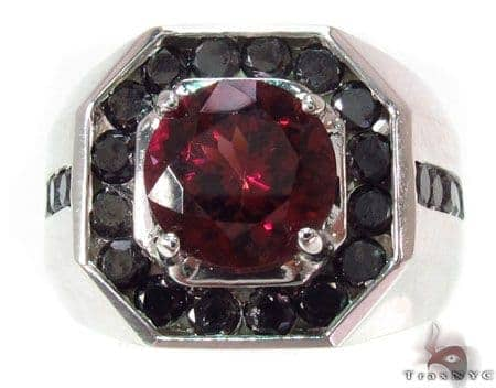 Mens Godfather Garnet Ring 1.70 ct Metal