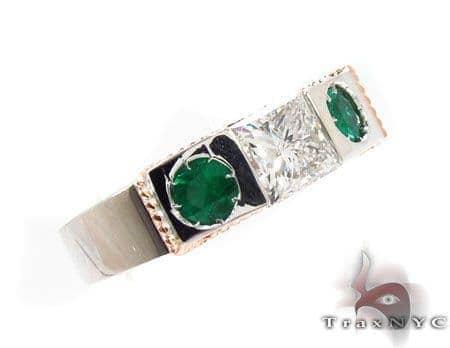 Goddess Emerald Diamond Ring Anniversary/Fashion