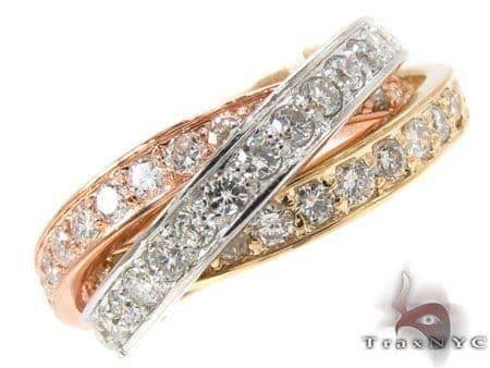 Triple Roll Diamond Ring Anniversary/Fashion