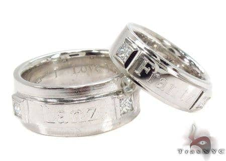 Couple Men Engagement Ring Wedding