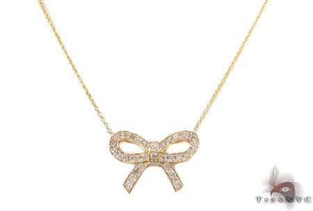 Ribbon Necklace 2 Diamond