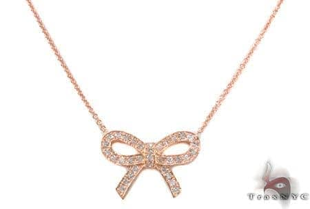 Ribbon Necklace 3 Diamond