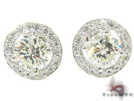 VS2 G Diamond Earrings Stone