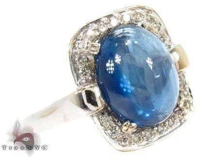 Star Sapphire Diamond Ring Anniversary/Fashion