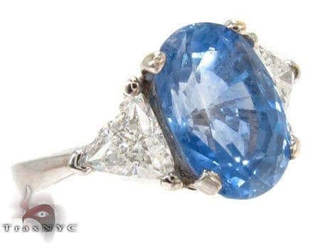Elsa Sapphire Diamond Ring Anniversary/Fashion