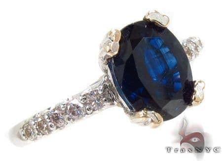 Oval Cut Sapphire Diamond Ring Anniversary/Fashion