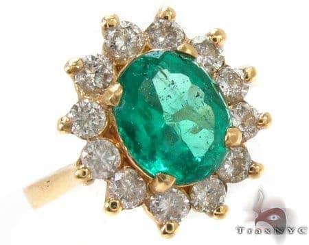 Green Fresh Emerald Ring Anniversary/Fashion