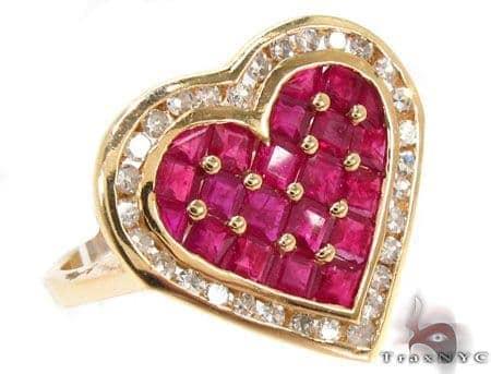 Heart Of Rubies Ring Anniversary/Fashion