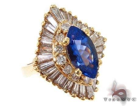 Blue Dandelion Tanzanite Ring Anniversary/Fashion