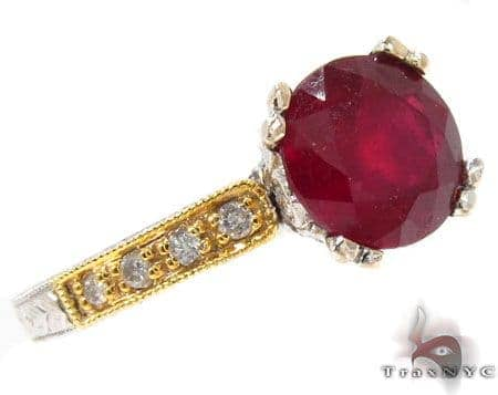 Ruby Rosebud Ring Anniversary/Fashion