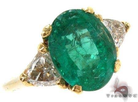 Oval Cut Emerald Diamond Ring Anniversary/Fashion