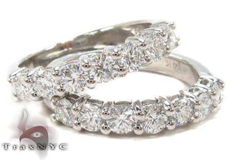 Prong Diamond Anniversary Band Set Wedding