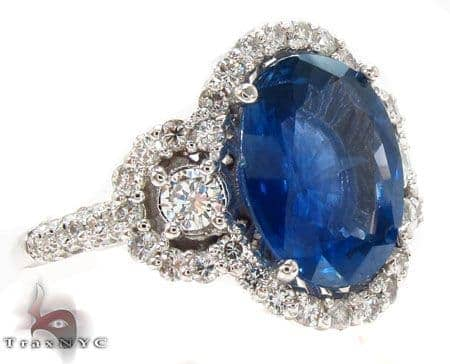 Ladies Night Blue Sapphire Ring Anniversary/Fashion