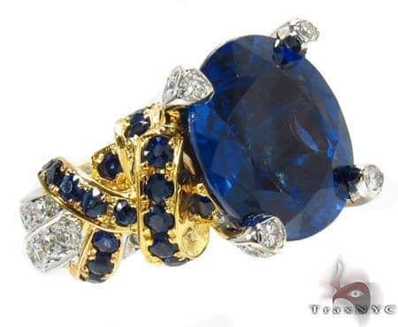 Intense Blue Sapphires & Diamonds Ring 31270 Anniversary/Fashion