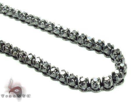Prong Black Diamond Chain 30 Inches 4mm 48.9 Grams 31296 Diamond