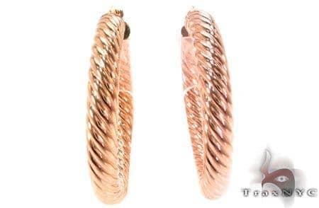 14K Gold Hoop Earrings 31315 Metal