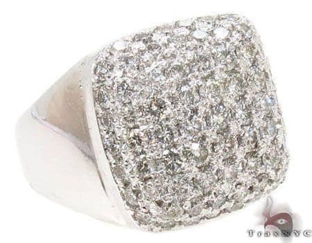 Mens Pave Diamond Ring Stone