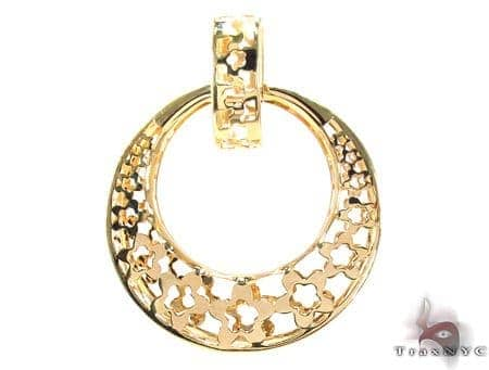 14K Gold Moon Pendant 31348 Metal
