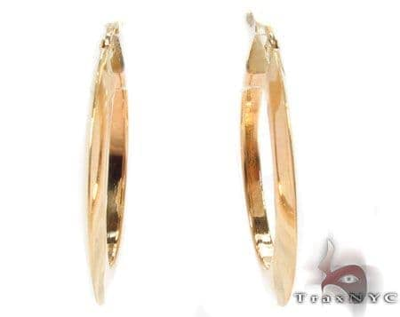 14K Gold Hoop Earrings 31358 Metal