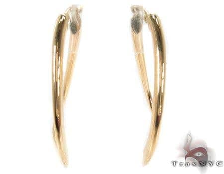 14K Gold Hoop Earrings 31359 Metal