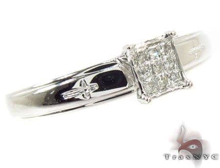 14K White Gold Diamond Ring 31410 Engagement