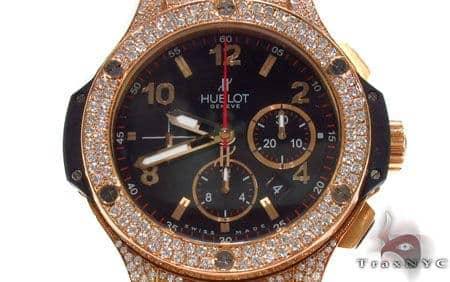 Hublot Rose Color Stainless Steel Diamond Watch 31444 Hublot