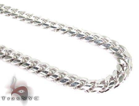 Miami White Silver Chain 30 Inches, 7mm, 104.1 Grams Silver
