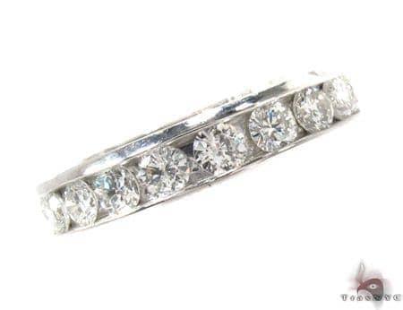 Channel Diamond Platinum Ring Wedding
