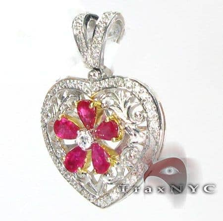 Light Ruby Pear Pendant Stone