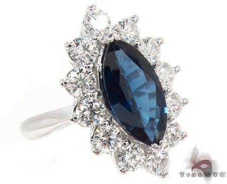 marquise cut Sapphire & Diamond Ring 31542 Anniversary/Fashion