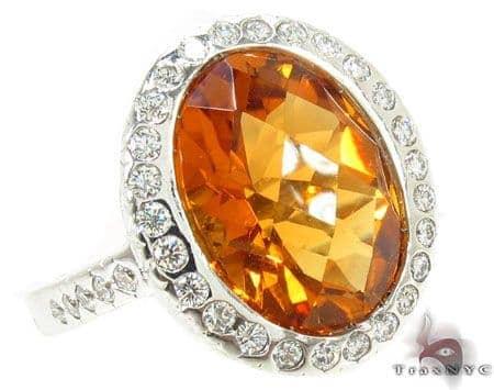 Madeira Citrine Diamond Ring 31547 Anniversary/Fashion
