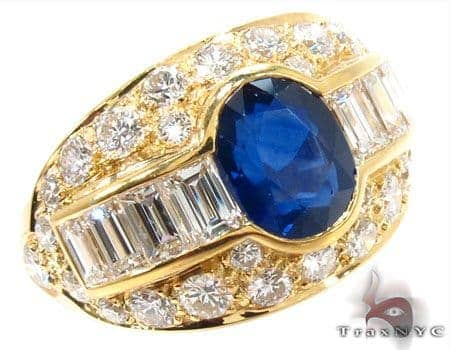 oval cut Sapphire Diamond Ring 31549 Anniversary/Fashion