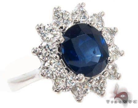 Sapphire & Diamond Ring 31557 Anniversary/Fashion