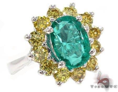 oval cut Emerald & Diamonds Ring 31560 Anniversary/Fashion