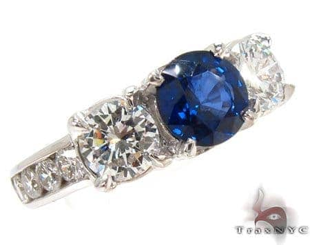 round cut Sapphire & Diamond Ring 31562 Anniversary/Fashion