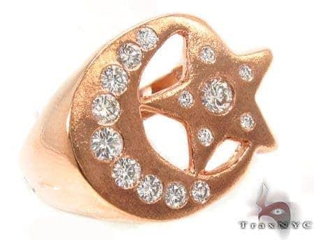 Crescent Moon Bezel Diamond Ring 31563 Stone