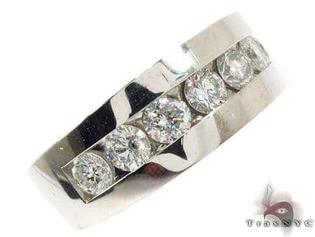 Gorgeous Eight Stone Channel Set White Gold Wedding Ring 31580 Stone
