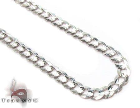 14K White Gold Cuban Chain 22 Inches 4mm 7.90 Grams Gold