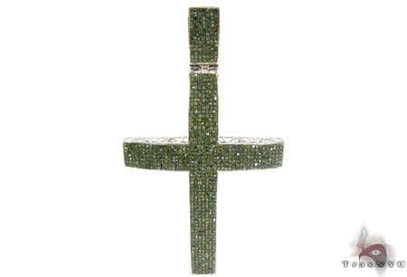 Prong Diamond Cross Crucifix 31674 Diamond