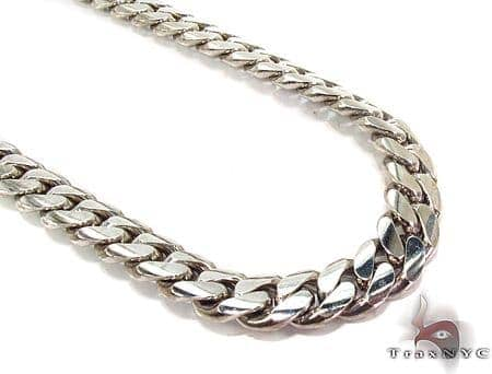 10K White Gold Miami Cuban Link Chain 23 Inches 10mm 157.3 Grams Gold