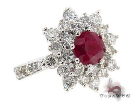 Red Ruby & Diamond Ring 32016 Anniversary/Fashion