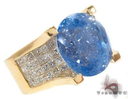 Blue Sapphire & Diamond Ring 32019 Anniversary/Fashion