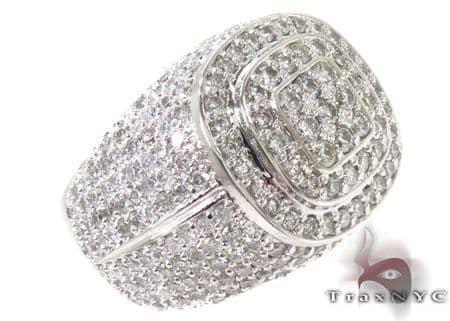 Mens Dignity Diamond Ring 2 Stone