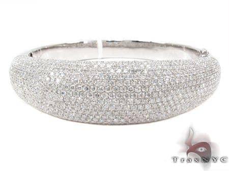 Prong Diamond Bracelet 32077 Bangle