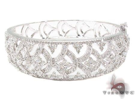 Prong Diamond Bracelet 32078 Bangle