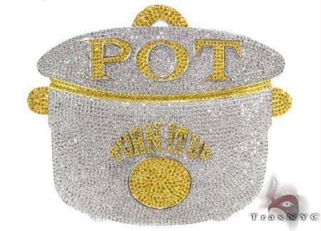 Custom Silver Pot Pendant Metal