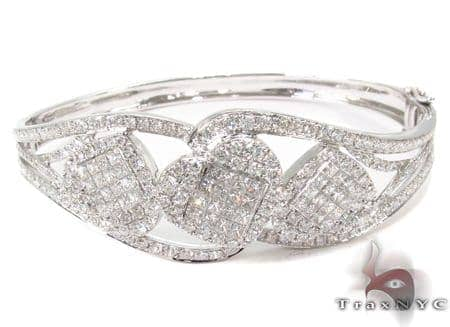 Prong Diamond Bangle Bracelet  32192 Bangle