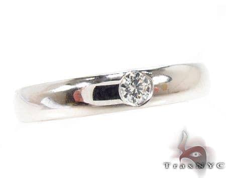 Bezel Diamond Ring 32203 Wedding