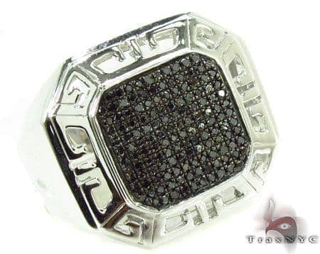 Prong Black Diamond Ring 32244 Metal