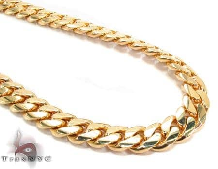 Miami Cuban Curb Link Chain 30 Inches 10mm 234.4 Grams Gold